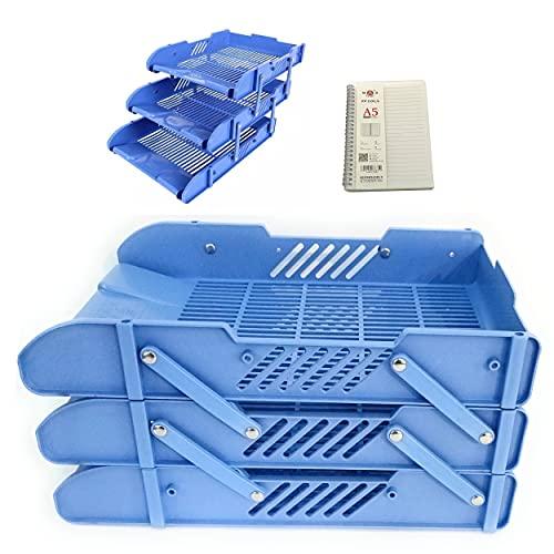 A4レタートレイ/ドキュメントシェルフ/ 3層ドキュメントストレージレタートレイ/デスクトップストレージシェルフストレージボックス/新聞および雑誌の整理/組み立てなしの事務用品/1A5ルーズリーフノート