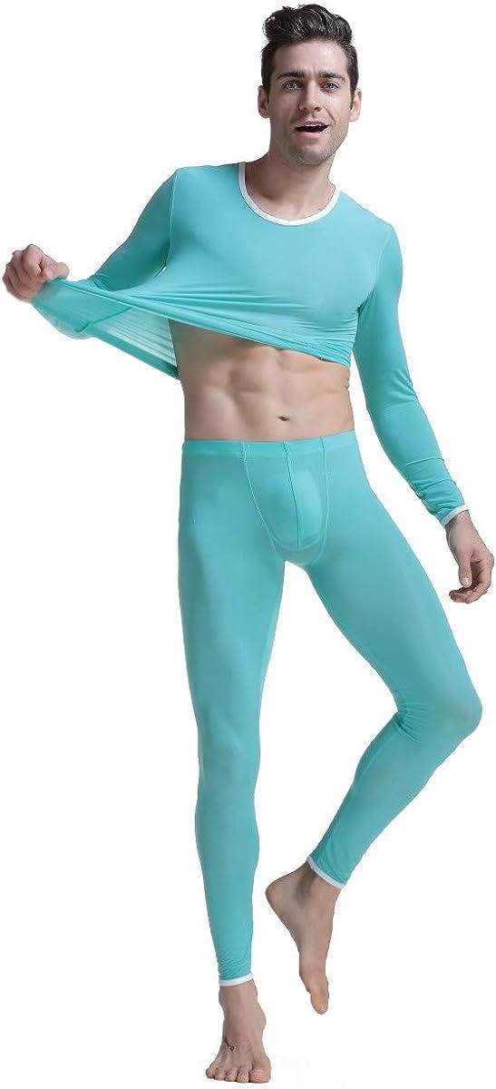 Mens Underwear Sets Slim fit 2 Pcs Hyperelastic Ultrathin Translucent Ice Silk