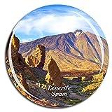 Weekino España Teide Volcano Tenerife Imán de Nevera 3D de Cristal de Turismo de la Ciudad de Viaje Recuerdo de la Colección de Regalo Fuerte Etiqueta Engomada del refrigerador