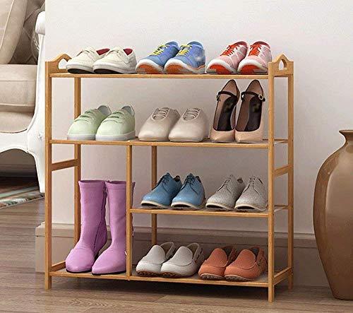 YLCJ schoenenrek, opbergkast van bamboe, met combinatie van meerdere eenvoudige lagen van bamboe (maat: 6 luiers)