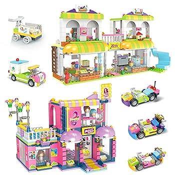 1294 PCS Friends Building Set Supermarket Hair Salon Creative Building Toy - Girls Building Blocks Set STEM Play Set - Perfect Role Play Game for Girls 6-12