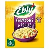 EBLY Couscous en Perles 10 Min Cuisson 10 Minutes Set de 6 x 3 Sachets Cuisson de 100 g