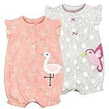 Bebé Verano Monos 2 Piezas - Niñas Pelele de Manga Corta Pijama de Algodón Animales Body para Recién nacido 18-24 Meses