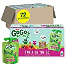 GoGo squeeZ Fruit on the Go, Apple Berry, 3.2 oz. (72 Pouches) - Tasty Kids Applesauce Snacks Made from Apples & Berries - Gluten Free Snacks for Kids - Nut & Dairy Free - Vegan Snacks