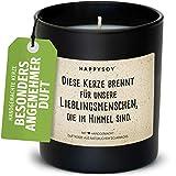 Happysoy Trauerkerze - Duftkerze im Glas mit Spruch - aus Sojawachs, handgemacht -nachhaltiges persönliches Geschenk Kondolenzgeschenk- Kerze für Verstorbene Trostlicht Lieblingsmensch