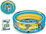 TOY STORY- Hinchable Playa 4-Piscina 3 Anillos 100Cm Brazaletes y flotadores Natación y Waterpolo Unisex Infantil, Color (Multicolor), única (Mondo MOO16764)