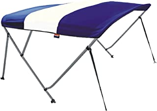 MSC 3 Bow Bimini Boat Top Cover with Rear Support Pole and Storage Boot