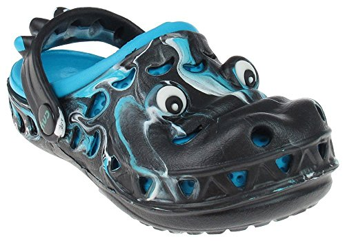 Capelli New York Toddler Boys Later Gator Tie Dye Injected Eva Clog with Backstrap. Blue Combo 4/5