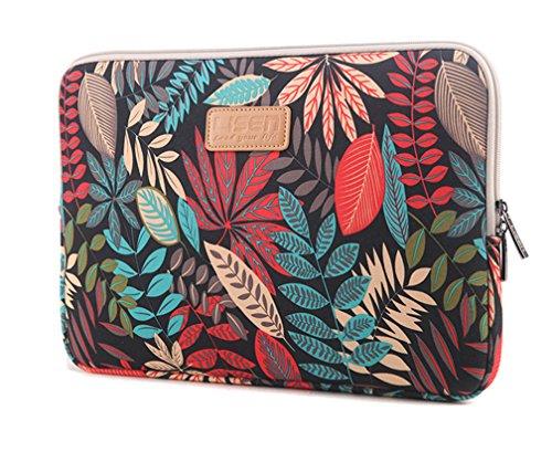 Bohème Schutzhülle Schutztasche für Laptops Laptophülle Tasche Schutzhülle Sleeve Tasche für Laptop/Notebook Tablet iPad Tab 12' Schwarz