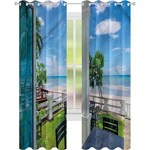 jinguizi Cortina opaca térmica aislante para sillas de costa, mesas de mar, 52 x 84, para puerta de cristal
