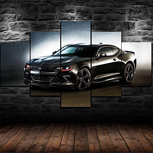5 Piezas Lienzos Cuadros PinturasPóster Hennessey Chevrolet Camaro ZL1Decoración Para El Arte Impresión en Lienzo Foto Regalo Abstracto Diseño de la Naturaleza Con Marco