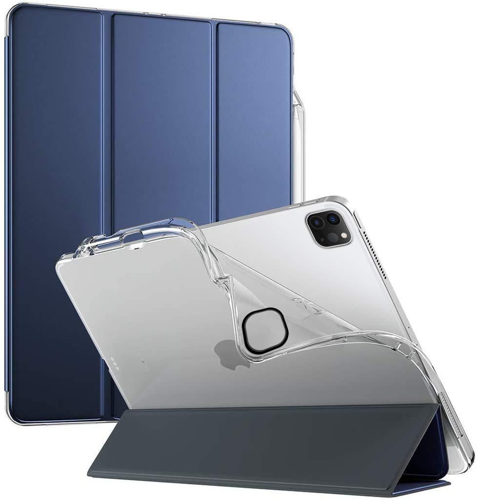 Poetic Carcasa para Apple iPad Pro 12.9 Lumos X Flexible y Ultradelgada TPU Slim-Fit con Triple Folio y Cubierta Inteligente [Función de Despertador/Reposo] [Estuche para lápiz] Azul Marino: Amazon.es: Electrónica
