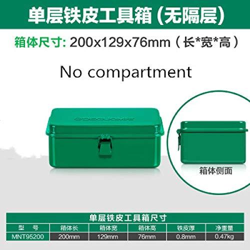 Gereedschapskist LKU Professionele ijzeren gereedschapskist enkellaagse gereedschapskist huisreparatie elektricien gereedschapskoffer, 1