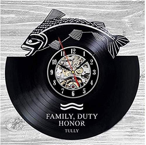 Ldwxxx Orologio in Vinile da Parete LED Vinyl Record Orologio da Parete Shark Record Arte Originale Unico Decorative Clock 7 Colori