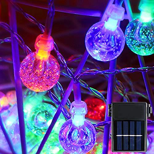 Koopower Cadena de 30 luces LED solares, 3 metros, funciona con pilas, impermeable, para interior y exterior, para jardín, Navidad, boda, fiesta, multicolor