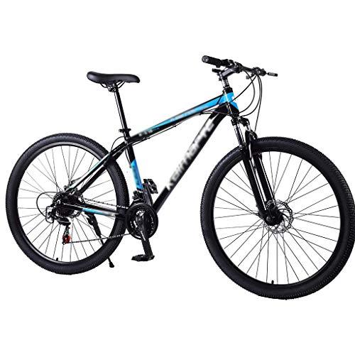 Mountain Bike Freno A Doppio Disco in Lega di Alluminio 29 Pollici Ammortizzatore Bicicletta A velocità Variabile con Sedile Anteriore Regolabile Mountain Bike, Mountain Bike 21/24/27 velocità