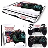 46 North Design PS4 Slim Vinyl Decal Autocollant Skin Sticker Horreur Pour Playstation 4 console + 2...