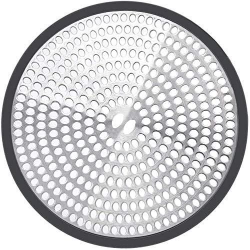 Nisorpa Rostfritt stål hårfälla sil universal duschavlopp hårfångare med silikonkant bra grepp golvavlopp skydd skydd för badkar handfat badrum kök vattenavlopp