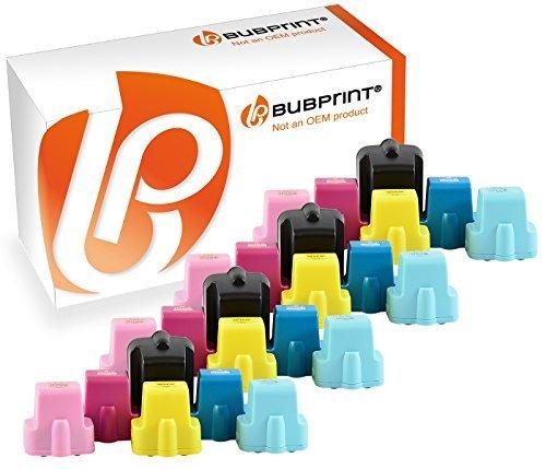 Bubprint 24 Druckerpatronen kompatibel für HP 363 HP363 für Photosmart 3100 Series 3110 3210 3310 8250 C5150 C5180 C6180 C6280 C7180 C7280 C8180 D6160