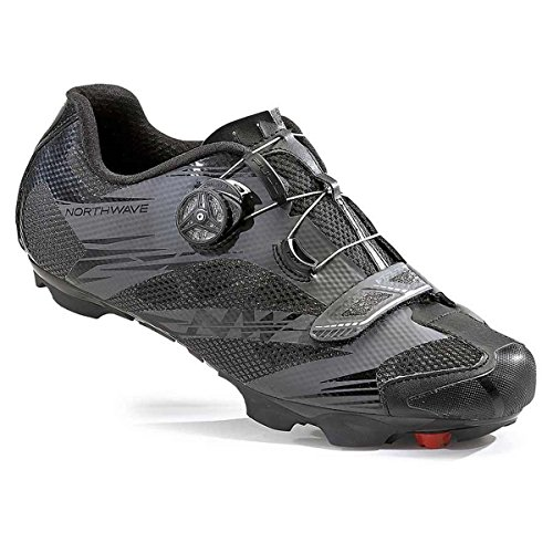 Northwave Scorpius 2 Plus Wide Cycling Shoe - Men's Black/Anthracite, 42