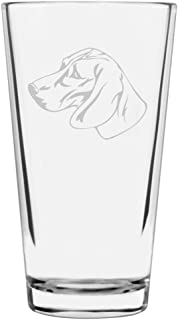 Posavac Hound Dog Themed Etched All Purpose 16oz Libbey Pint Glass