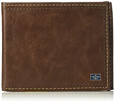 Dockers Men's Leather Passcase Wallet, Tan, One Size