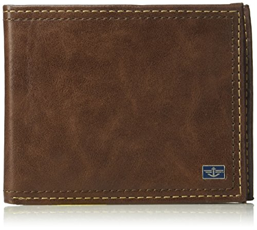 Dockers Men's RFID Security Blocking Passcase Wallet, One Size, Slimfold Wallet Tan
