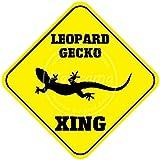 CDecor Leopard Gecko Xing Blechschilder, Metall Poster,