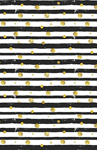 Lined Notebook A5 Size 110 Pages: Funny Ruled Journal. Cute Golden Star Butterfly Black Stripe 048 Unique Student Teacher Blank Scrapbook/ Composition/ Planner Great For Home School Office Writing