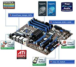 MSI X58 Pro-E Core i7/Intel X58/6DDR3-1333/ATI CrossFireX/GbE/R/A/1394/ATX Motherboard