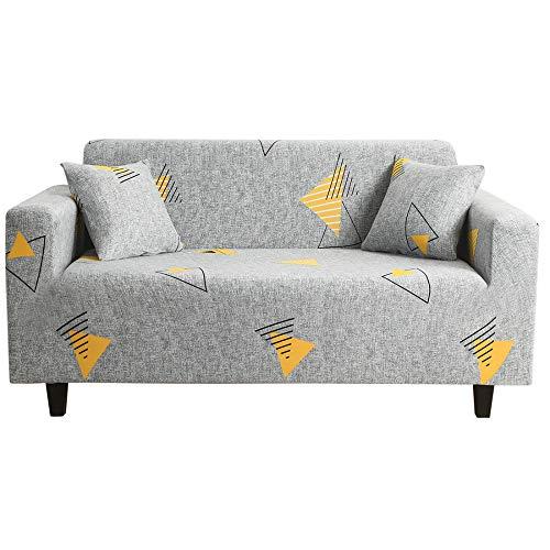 CXL Vier Jahreszeiten Universal-Sofabezug All-Inclusive-Sofabezug Sofakissen Sofabezug Moderne minimalistische hellgraue geometrische Muster-Sofabezug