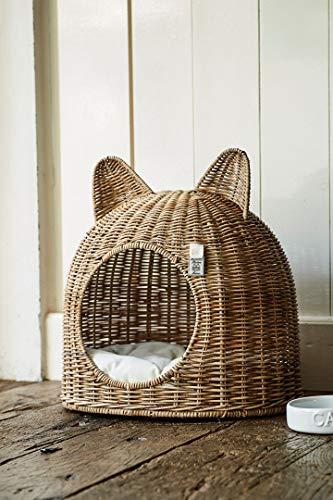 Rivièra Maison - Katzenhaus Katzennest Katzenhöhle- Slimit-Rattan - von Hand gefertigt