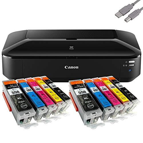 Bundle Canon PIXMA iX6850 Tintenstrahl Drucker A3+ (Dokumente/Fotos) mit 10 komp. Youprint® Tintenpatronen für PGI-550/CLI-551 XL