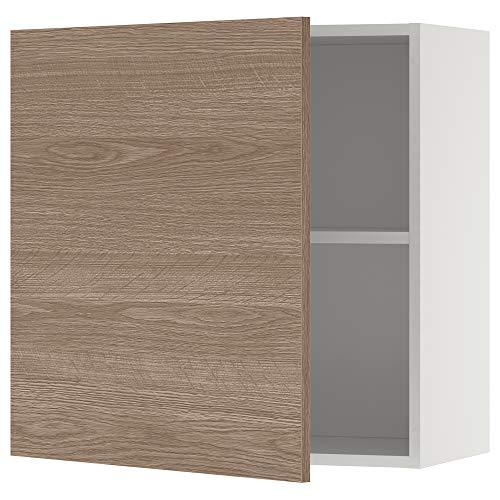 Armario de pared KNOXHULT con puerta 60x31x60 cm efecto madera/gris