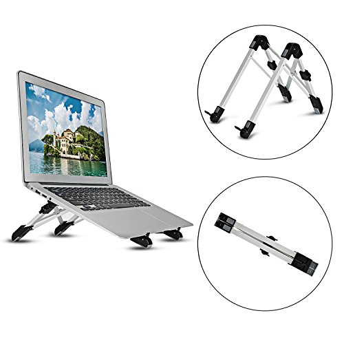 Laptop Stand, Foldable Laptop Desk Holder, Adjustable Tablet Stand, Foldable Portable PC Moniter Riser, Lightweight Laptop Cooling Stand Gaming Riser Compatible for Macbook, Lenovo, Notebook Computer