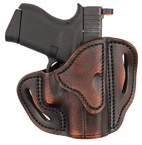 1791 Gunleather Glock 43 Holster, Right Hand OWB G43 Leather Gun Holster for Belts. Fits Glock 43 and Ruger LC9 & Ruger SR22 (BHC) (Vintage)