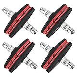 IWILCS 8 Piezas Zapatas de Freno en V, 70 mm Zapatas de Freno de Bicicleta Pastillas de Freno Bicicleta Pastilla para Freno V-Brake para Potencia de frenado simétrica (Rojo)