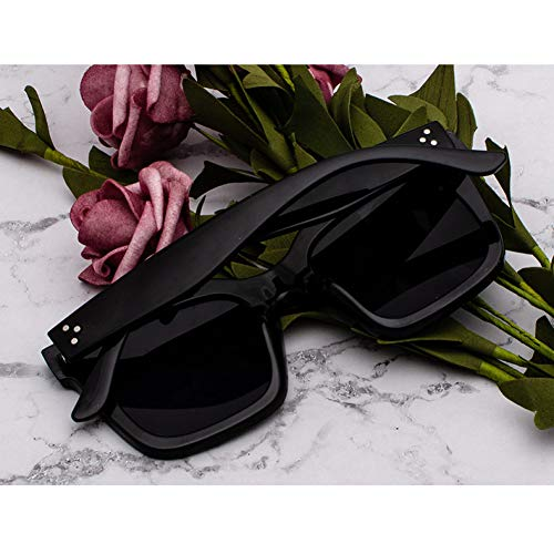 JINGRU Moda Kim Kardashian Gafas de Sol Lad Flat Top EyewearMujerGafas deSol Mujer Rivet Sun Glasse