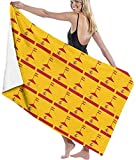 HSHY Toalla de Playa Bandera de España Bandera Manta de Playa Grande Secado rápido Toalla sin Arena Extra Absorbente adicionalhshy