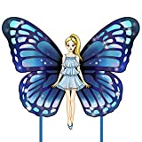 Mocado Kite for Kids-Adults Easy-to-Fly - Beautiful Blue Butterfly Fairy Kites with Long Tails, Great for The Beach Game, Outside Activities for Friends and Family.