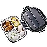 Dzwyc 4 Caja de Almuerzo de la Rejilla - 304 Cajas de bento de Acero Inoxidable, Mantenga un contenedor de Alimentos Caliente 1300ml Estudiante Adulto (tamaño : Grande)