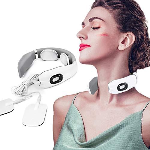 Dr.Lefran Elektrische Pulse AnsatzMassager, 3D-Montage-Technologie, zervikale Zugkraft-Kragen-Therapie Schmerzlinderung Stimulator Guasha Akupunktur Schröpfen Patting Massage
