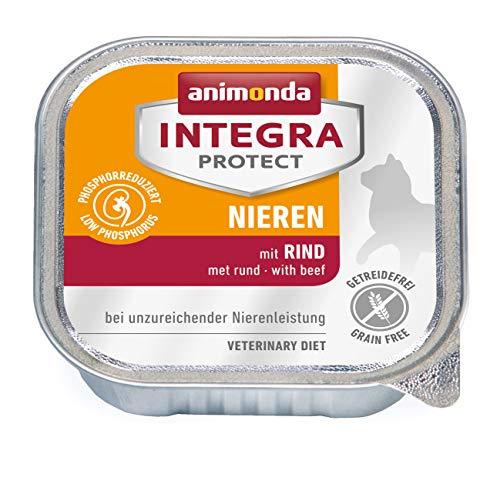 animonda Integra Protect Nieren Katzen, Nassfutter bei Niereninsuffizienz, mit Rind, 16 x 100 g