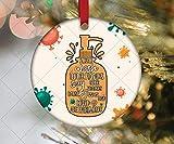 None-brands 2020 - Ornamento per lavarsi le mani, divertente disinfettante per le mani, Gesù e Covid 19 ovunque, quarantena di Natale 2020, regalo di Natale