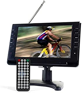 Tyler TTV702-9 Portable Widescreen LCD TV with Detachable Antennas, USB/SD Card Slot, Built in Digital Tuner, and AV Inputs