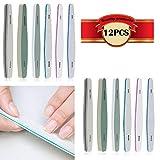 CESFONJER Kit de limas de uñas de doble cara (12 Pcs) 150/180/200/240/280/1000/4000, set de pedicura de manicura cosmética para el cuidado de las uñas.