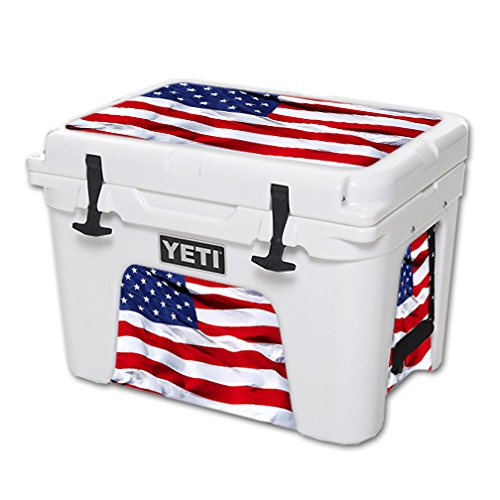 MightySkins (Cooler Not Included) Skin Compatible with YETI Tundra 35 qt Cooler wrap Cover Sticker Skins American Flag