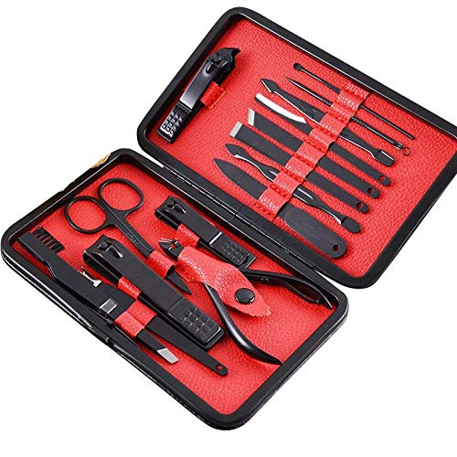 Nail Clipper Set Black Ear Picker Set Manucure Set-B