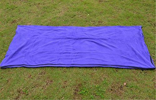 Yeying123 Outdoor Ultra-Sottile Busta Ultra-Sottile Tipo Coperta Peluche Adulto Campeggio Viaggio Pausa Pranzo Sacco A Pelo Multifunzionale In Pile,Purple