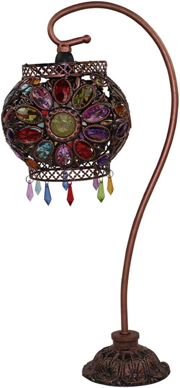 LJJY Glas tischlampe acryl 40W handgefertigte perlen Eisen anhnger quaste nachttischlampe Garten hochzeitsgeschenk Hochzeit inneneinrichtung tischlampe